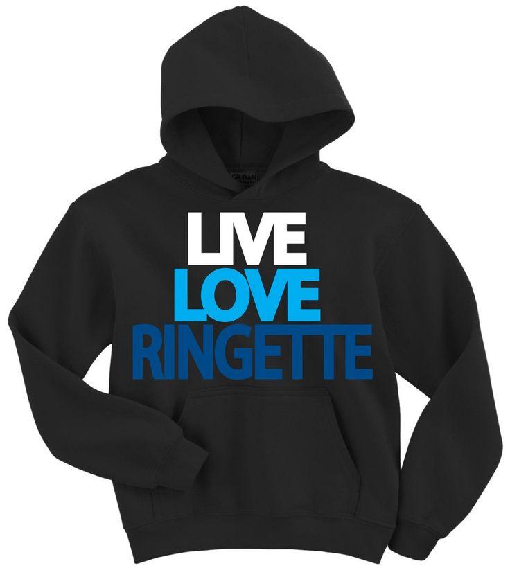 Live Love Ringette Hoodie Sweatshirt - Ringette - Browse By Sport