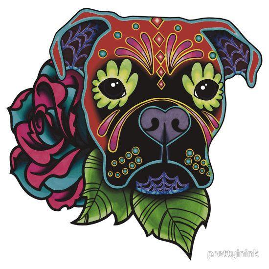 Day+of+the+Dead+Boxer+Sugar+Skull+Dog