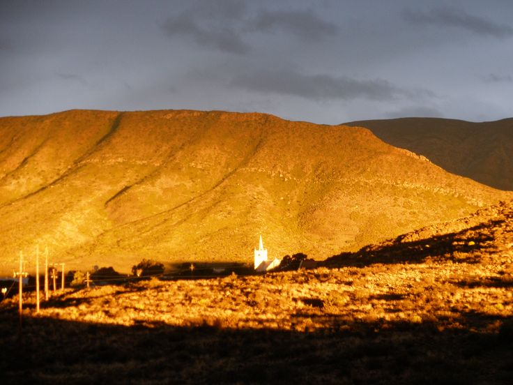 Late afternoon shadows on the Swartberg Mountains