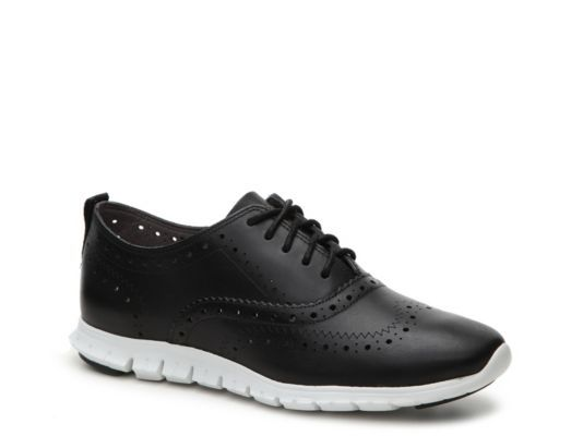 Women's Cole Haan Zero Grand Leather Oxford - Black/White