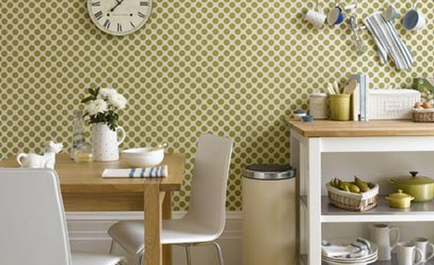 Kitchen Wallpaper feature wall