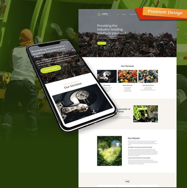 Demo Preview for Gogreen - Garbage Services Premium Moto CMS 3 Template #65291