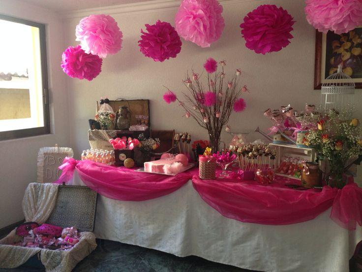 Mesa de postres despedida de soltera decoracion de bodas - Decoracion fiestas vintage ...