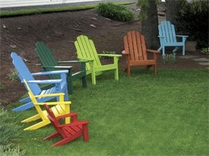 Enjoy all the colors of the rainbow with our polywood Adirondack Chairs