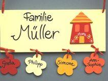 Good T rschilder Namensschilder und Buchstaben aus Holz Deko f r us Kinderzimmer liebevolle Kleinigkeiten
