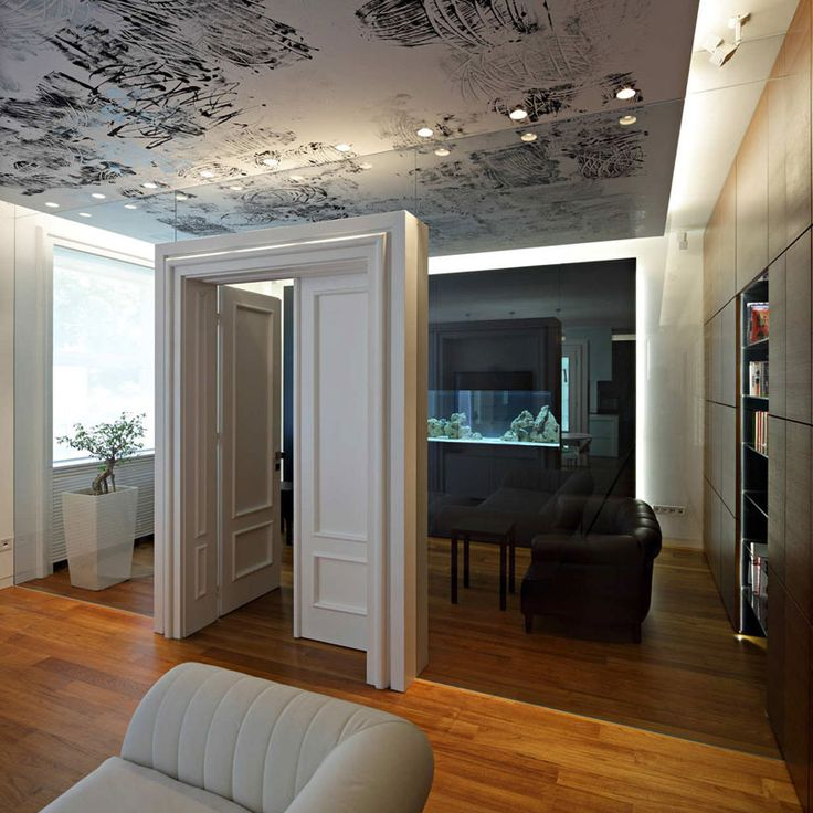 Artistic Ceiling Of Downtown Apartment Zagreb By Dva Arhitekta D O Interior DesignLuxury