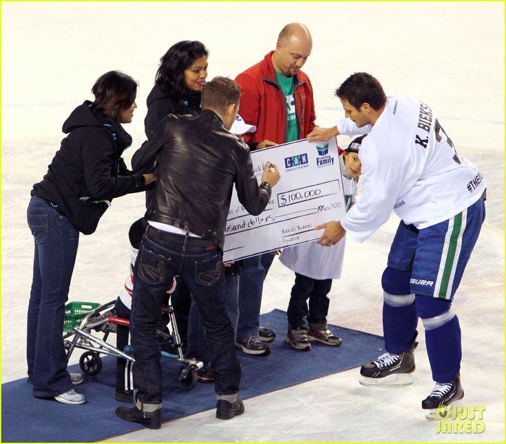 Michael Buble: Bieksa's Buddies Charity Hockey Game October 2012