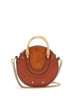 0cceb8ca01e8 Pixie mini leather and suede cross-body bag