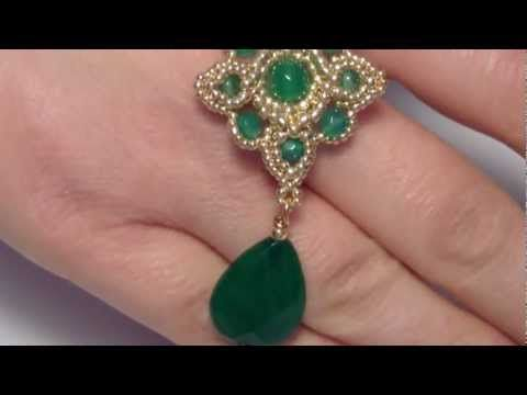 DIY Tutorial | G orecchini green and gold (how to bead)
