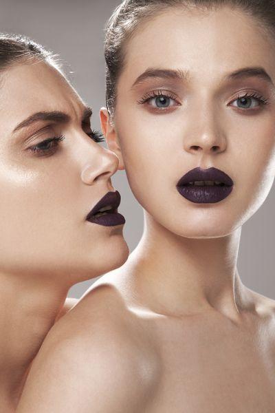 Make up: Valentina Raimondi #valentinaraimondi #beauty #makeup #lip #lips #darklips #violet #burgundy #shimmer #lauramercier #mac #cosmetics