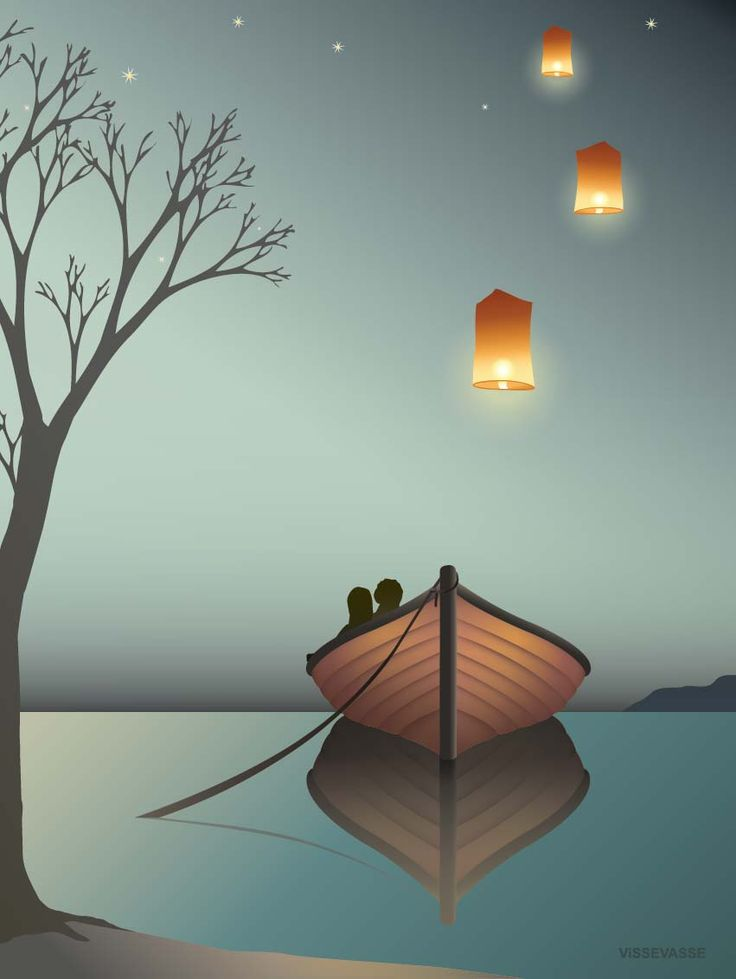 THE LANTERN POSTER Long ago, floating lanterns were used to send signals across long distances. Today, some believe that that they bring good luck and send up a lantern with the hope of seeing their dreams come true. With the starry sky and the calm lake surface, the silence is almost audible... And you feel like sending a thought to someone you love.