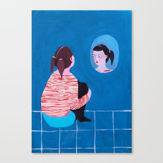 """""""Bitchy Resting Face."""" Thanks x One Million. Canvas Print by Psgsummers 