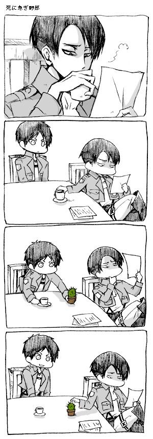 Image result for eren and levi comics