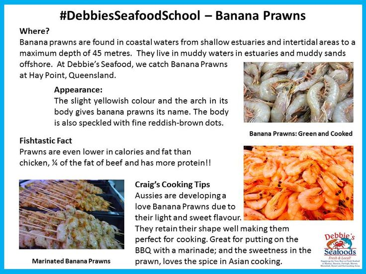 #Banana #Prawns are currently in season so we thought we'd write up a little bit about them.