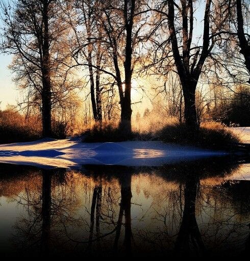 The Winter lake. ©Ann-Jorunn Jentine Aune