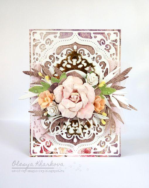 As if by magic by Olesya Kharkova: Mom's birthday card