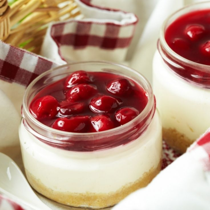A Sweet recipe for individual cherry cheesecakes. This is a delicious dessert.. Individual Cherry Cheesecakes Recipe from Grandmothers Kitchen.