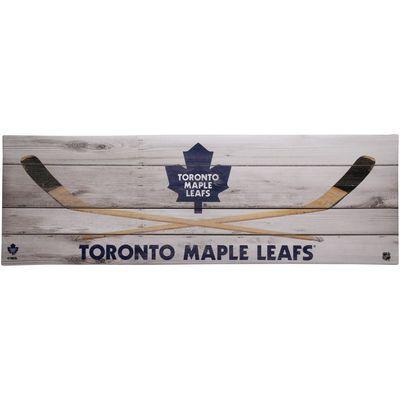 Toronto Maple Leafs 10'' x 30'' Hockey Sticks Wall Décor