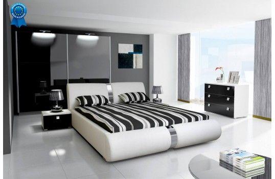 Lit coffre design Marzio - Moderne et fonctionnel