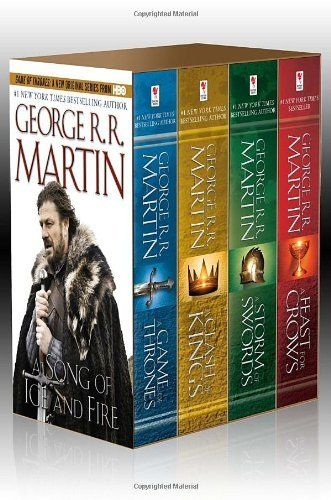 A Song of Ice and Fire, Books 1-4 (A Game of Thrones / A Feast for Crows / A Storm of Swords / Clash of Kings) by George R.R. Martin, http://www.amazon.com/dp/0345529057/ref=cm_sw_r_pi_dp_xm9Mqb1EZKN37