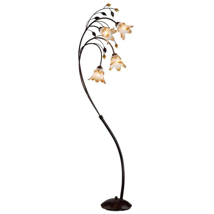 24 best floor lamps images on pinterest flooring floors and ok lighting 74 in bronze windance floral floor lamp home depotoil mozeypictures Images
