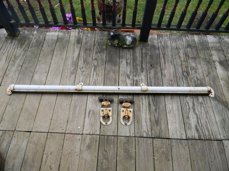 Complete System Myers Antique Barn Door Rollers With Track, End Caps and Hangers #Myers