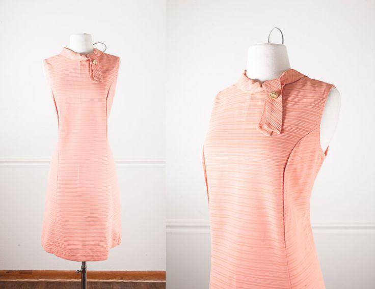 1960s Mod Shift Dress / Vintage Peach Dress / Mid Century Modern Sheath Dress / Mod 60s Dress / 60s Mod Dress / Coral Dress / 50s Dress by BlueHorizonVintage on Etsy #50s #60s #mod #shift #dress #etsy #vintage #fashion #clothing #style #modern #mid #century #coral #peach #sheer #evening #cocktail #secretary #midi #sheath