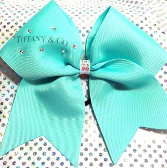 Tiffany blue cheer bow