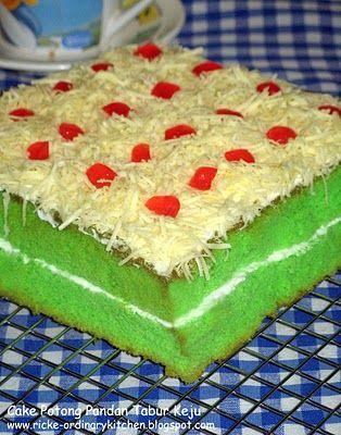 Just My Ordinary Kitchen...: CAKE PANDAN TABUR KEJU