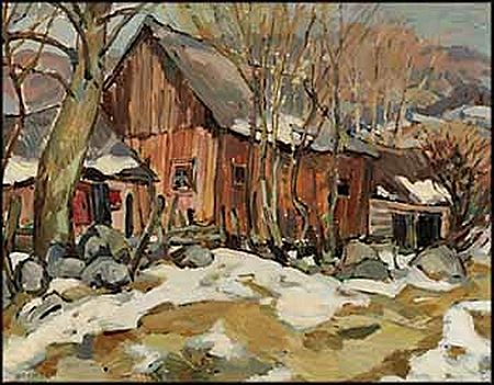 Helmut Gransow House in the Countryside  22 x 28in 55.9 x 71.1cm  oil on board  Estimate: $800 - $1,200 CAD Sold for:   $2,500 CAD (premium included)