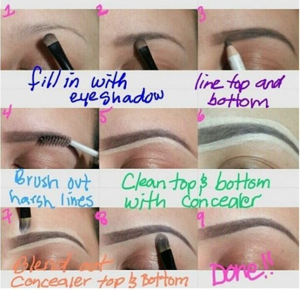 BROWS.... Ladies! Fill. In. Your. Brows! It sets the stage for your eye makeup and completes the entire look! :)