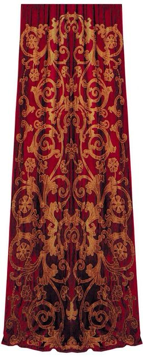 .This reminds me of the red velvet theater curtains I scored many years ago.