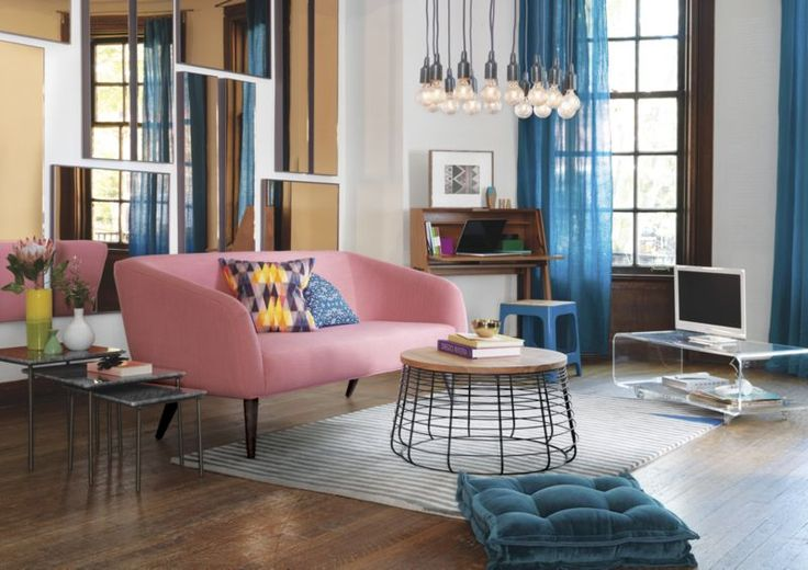 rue petal apartment sofa    CB2 - In addition I especially love the wall of mirrors.