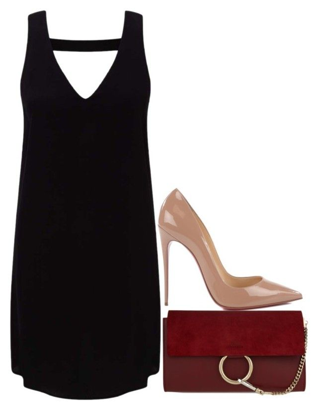 """""""Untitled #368"""" by arianasinger ❤ liked on Polyvore featuring Miss Selfridge, Christian Louboutin and Chloé"""