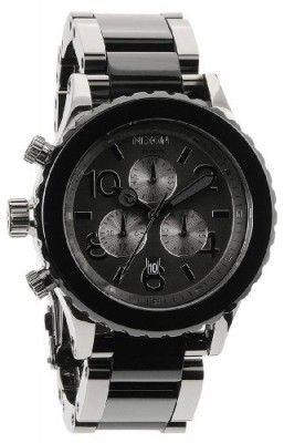 Relógio Nixon 42-20 Chrono Watch Gunmetal/Black Acetate, One Size #Relogio #Nixon