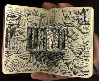 Moleskine Pop-Up Art by Jim Woodring