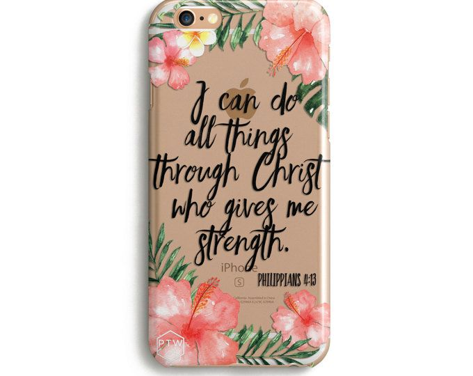 H157 - I can do all things through Christ who strengthens me - PHILIPPIANS 4:13 - Christian iPhone Case with Bible Verse