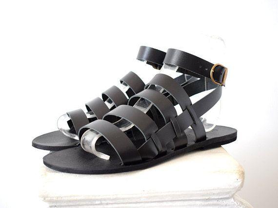 2aef0057fe1 Gladiator Men Sandals  2018 sandals  Gift For Men  leather sandals   Handmade Sparta Sandals  Men Gift  Men black sandals  Genuine Leather