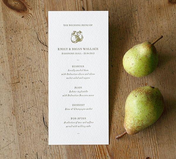 Artcadia Letterpress Wedding Stationery ~ Uncomplicated Letterpress Range. http://www.artcadia.co.uk/