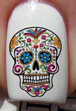 Crâne en sucre - Stickers pour ongles YRNAILS