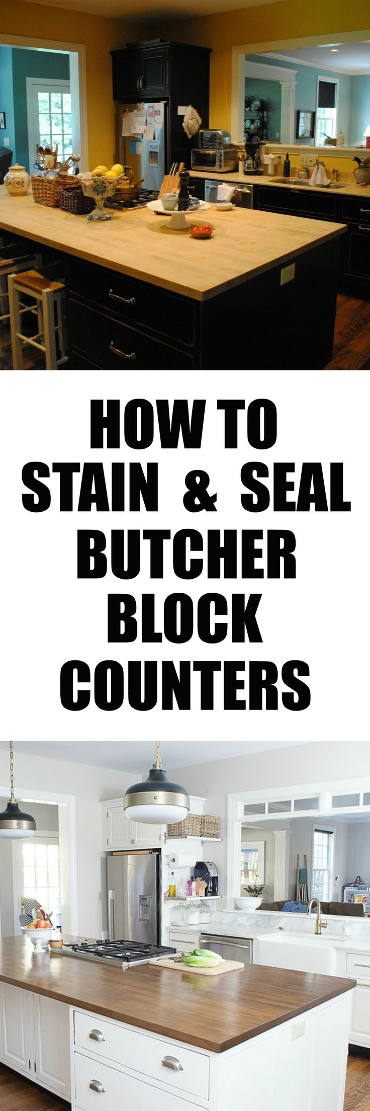 how to stain and seal butcher block counters