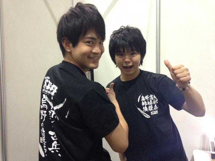 Kaito Ishikawa and Ayumu Murase @ AnimeJapan 2014. Photo by #Haikyuu official twitter.
