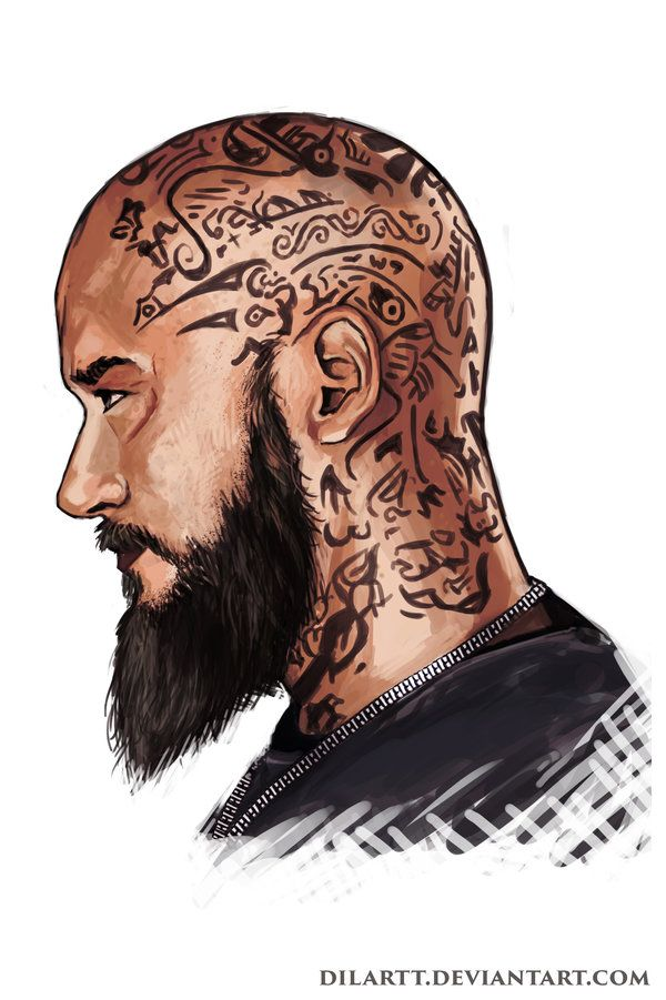 Ragnar Head Tattoo Design