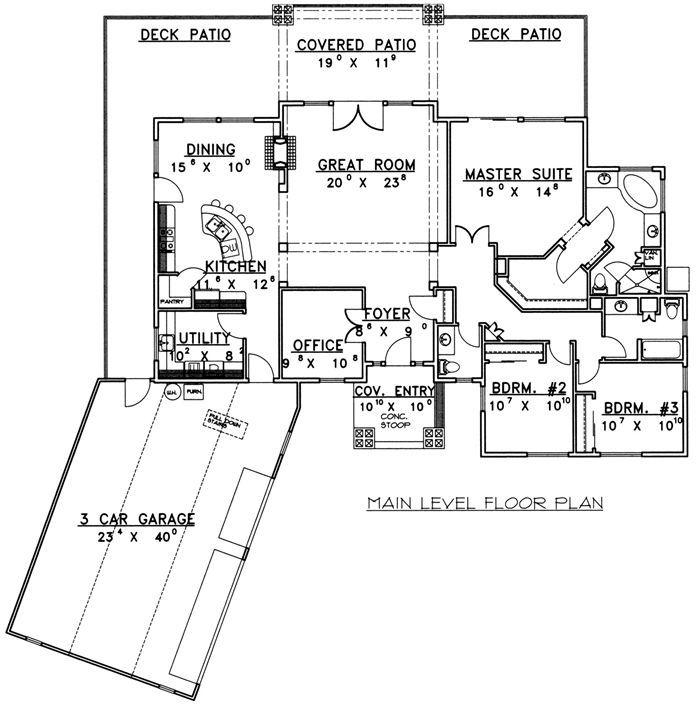 Best 25 Single Level Floor Plans Ideas On Pinterest