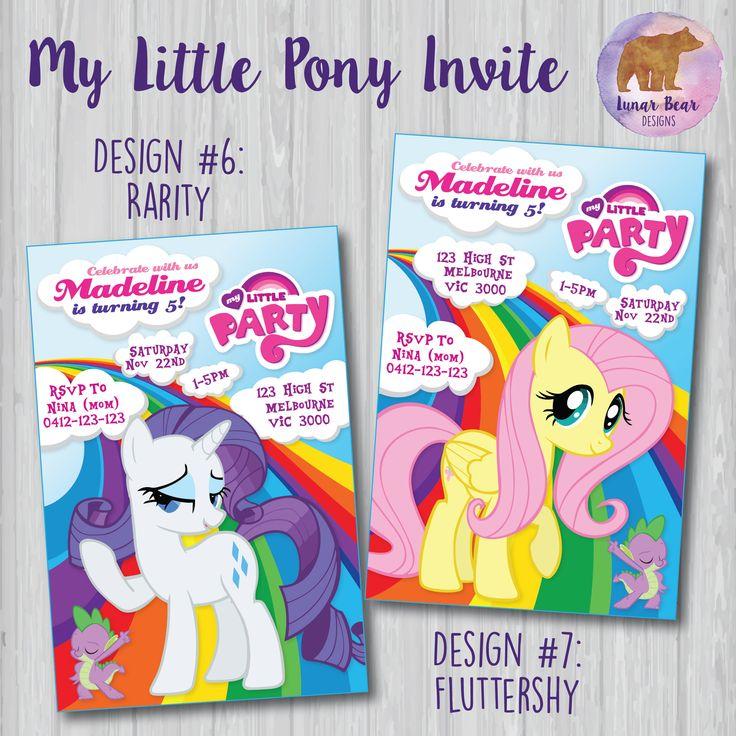 My Little Pony Invitation My Little Pony Rainbow Invitation