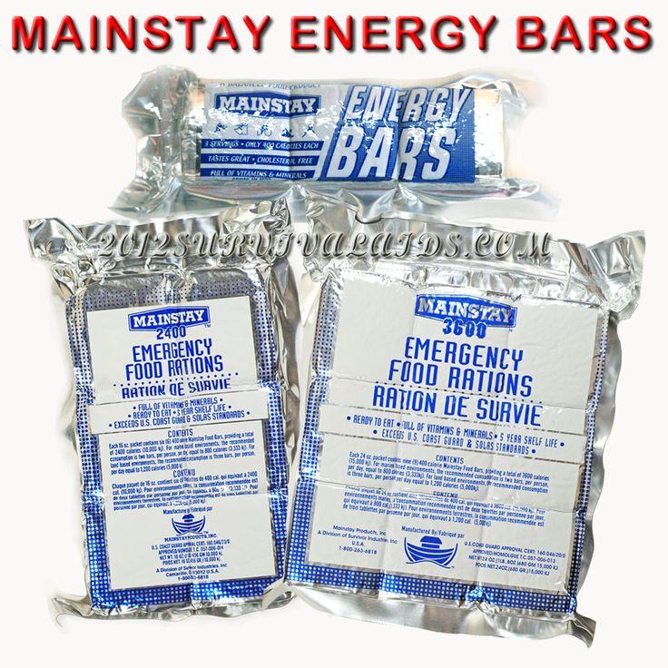 Mainstay Emergency Ration Bars Sample Packs - 6 Day Food Supply - Camping Hiking #MainstayRationBars