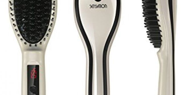 Hair Straightening Brush – Sensation Professional Electric Straightener Brush – Ceramic Hair Comb With LCD Display, Auto Shut Off and Buttons lock(450℉)With Traveling Bag&Hair comb Promotional Price  Be Your Own Professional Stylist At Home with Sensation Hair Iron Brush! When you purchased the Sensation Hair Brush Straightener, you invested in yourself and your self-confidence. Now the brown Amazon box has arrived at your door. Imagine opening it to find an elegant box with your new..