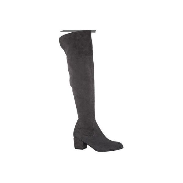 Women's Tamaris Joyce Over the Knee Boot ($150) ❤ liked on Polyvore featuring shoes, boots, casual, grey, leather boots, gray knee high boots, over-the-knee high-heel boots, over the knee thigh high boots, gray over the knee boots and over the knee boots