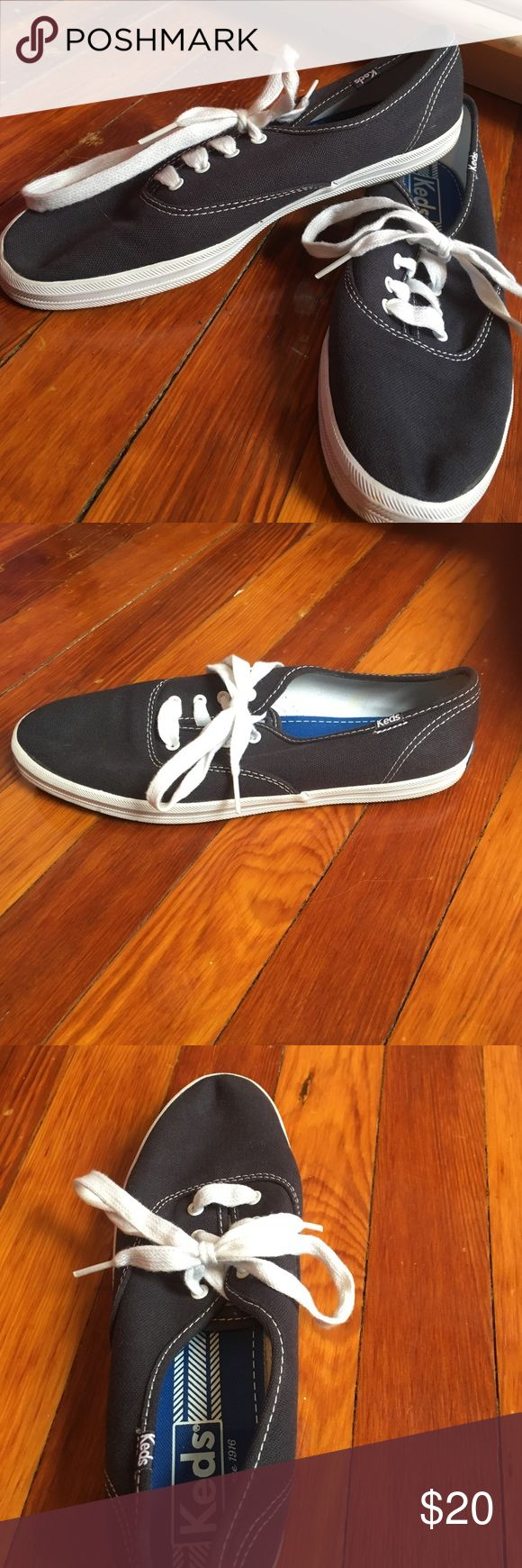 Keds Sneakers Navy Blue keds sneakers with white soles. Never worn size 8.5, no box. Shoes Sneakers