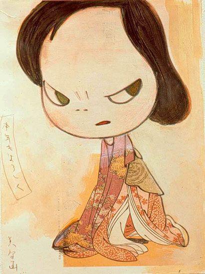because she's like me when she's grouchy...  w.  yoshitomo nara - Google Search